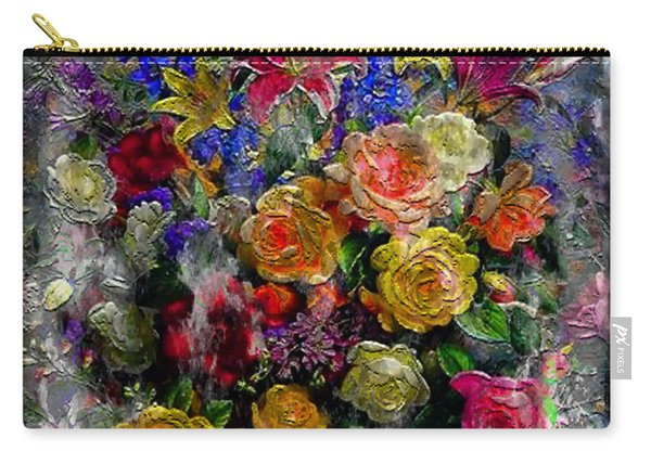 7a Abstract Floral Painting Digital Expressionism Carry-all Pouch