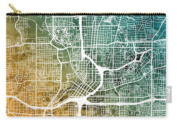 Atlanta Georgia City Map Carry-all Pouch