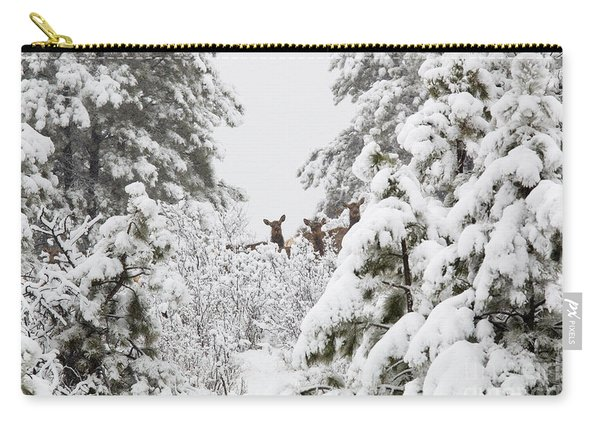 Elk In Deep Snow In The Pike National Forest Carry-all Pouch