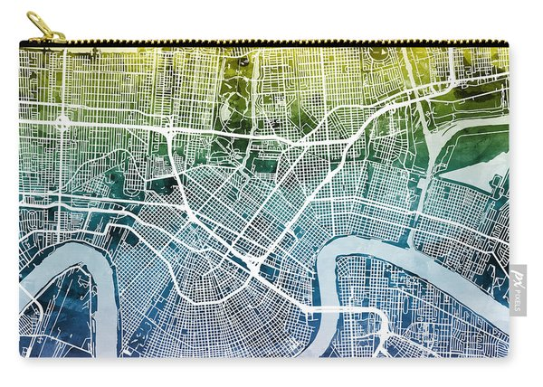 New Orleans Street Map Carry-all Pouch