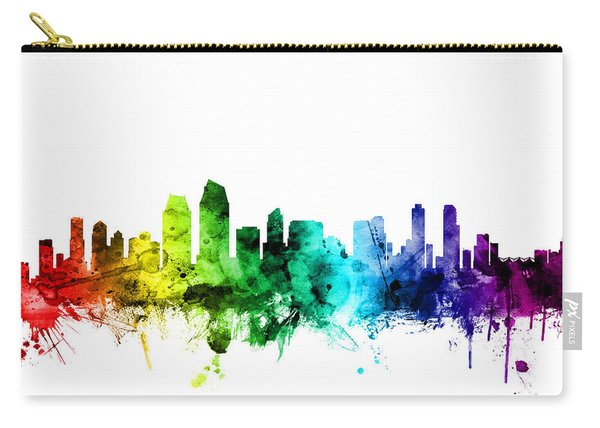 San Diego California Skyline Carry-all Pouch