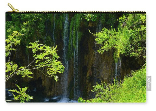 Waterfall In Plitvice National Park In Croatia Carry-all Pouch