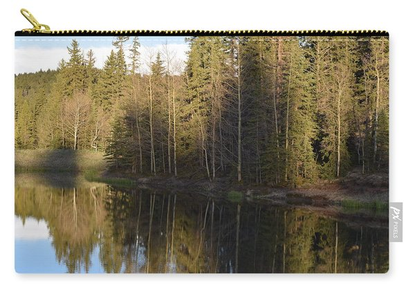 Carry-all Pouch featuring the photograph Shadow Reflection Kiddie Pond Divide Co by Margarethe Binkley