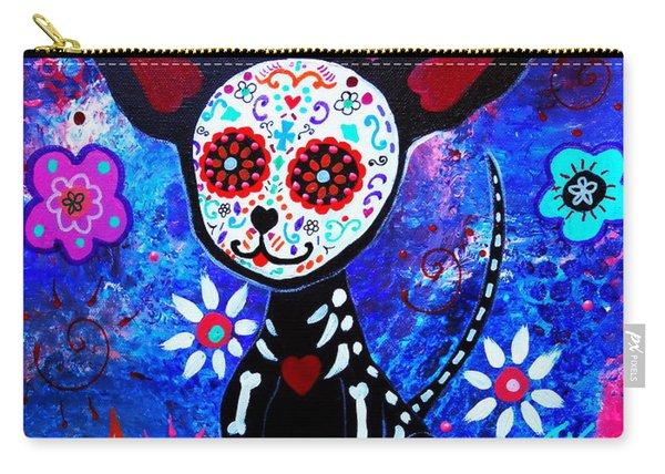 Chihuahua Dia De Los Muertos Carry-all Pouch