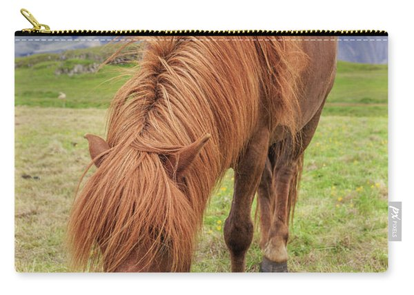 A Beautiful Red Mane On An Icelandic Horse Carry-all Pouch