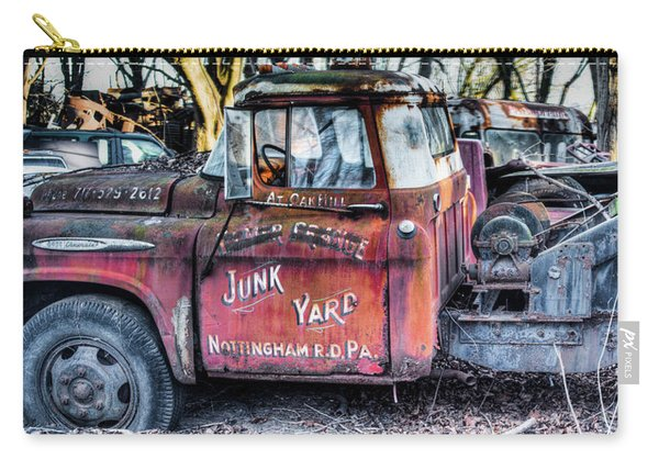 A Beautiful Rusty Old Tow Truck Carry-all Pouch