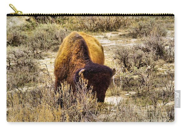 A Big Bison Carry-all Pouch