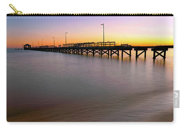 A Biloxi Pier Sunset - Mississippi - Gulf Coast Carry-all Pouch