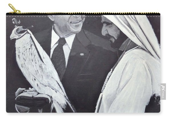 Carry-all Pouch featuring the painting A Bird In The Hand Is Worth Two In The Bush by Richard Le Page