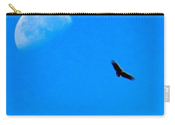 A #bird's Eye #view Of The #moon Over Carry-all Pouch