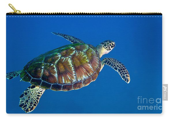 A Black Sea Turtle Off The Coast Carry-all Pouch