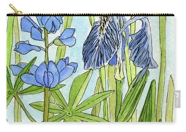 A Blue Garden Carry-all Pouch