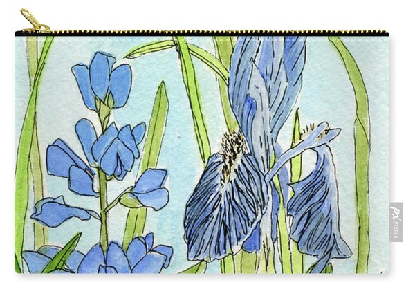 A Blue Garden Carry-all Pouch