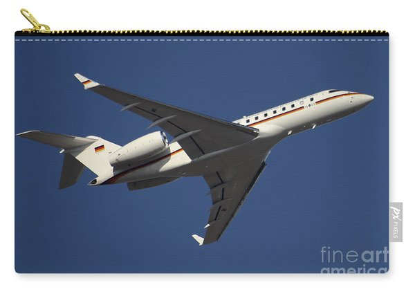 A Bombardier Global 5000 Vip Jet Carry-all Pouch