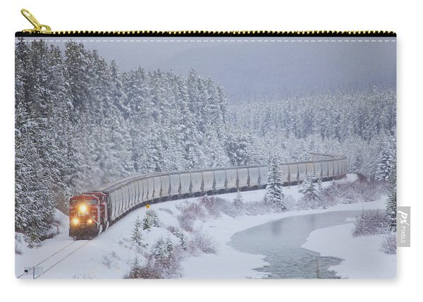 A Canadian Pacific Train Travels Along Carry-all Pouch