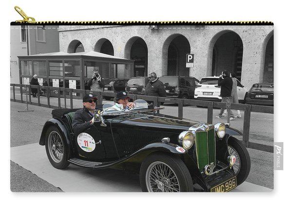 A Classic Vintage British Mg Car Carry-all Pouch