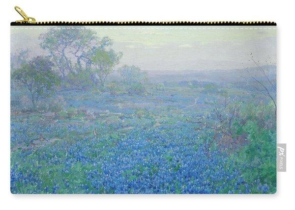 A Cloudy Day, Bluebonnets Near San Antonio, Texas Carry-all Pouch