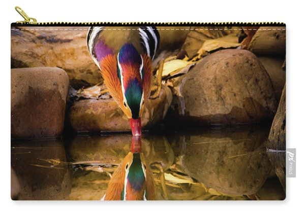A Cold Drink - Mandarin Drake Carry-all Pouch