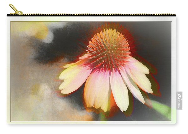 A Colorful Coneflower With Bokeh Carry-all Pouch