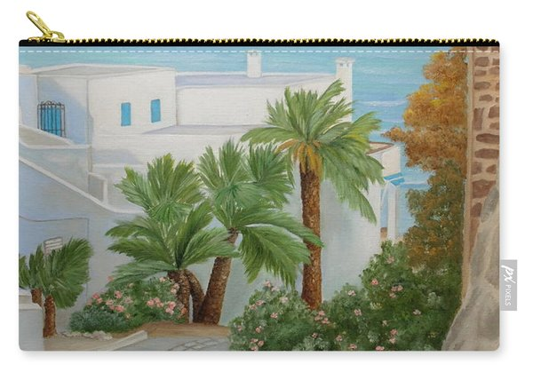 Carry-all Pouch featuring the painting A Corner In San Jose by Angeles M Pomata