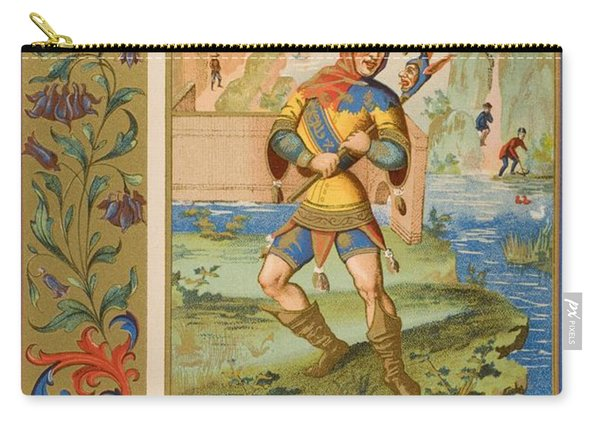 A Court Fool Of The 15th Century. 19th Carry-all Pouch