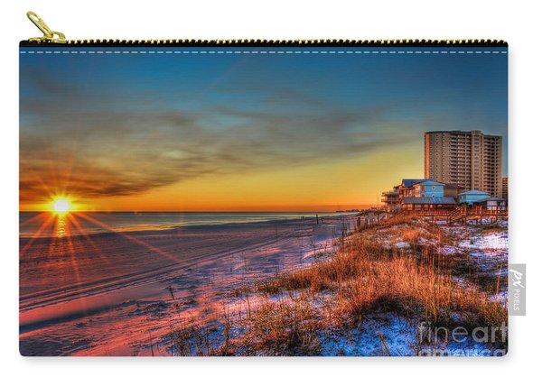 A December Beach Sunset Carry-all Pouch