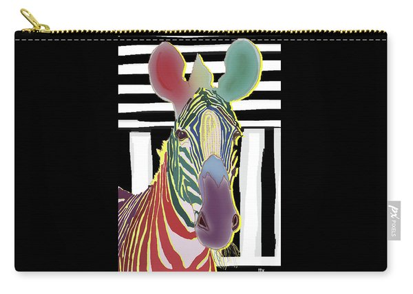 A Different Zebra Carry-all Pouch
