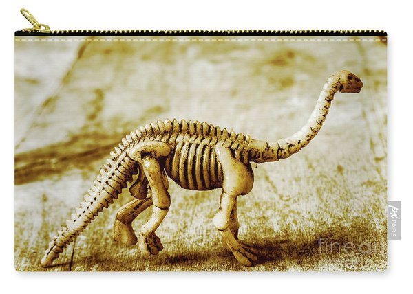 A Diploducus Bone Display Carry-all Pouch