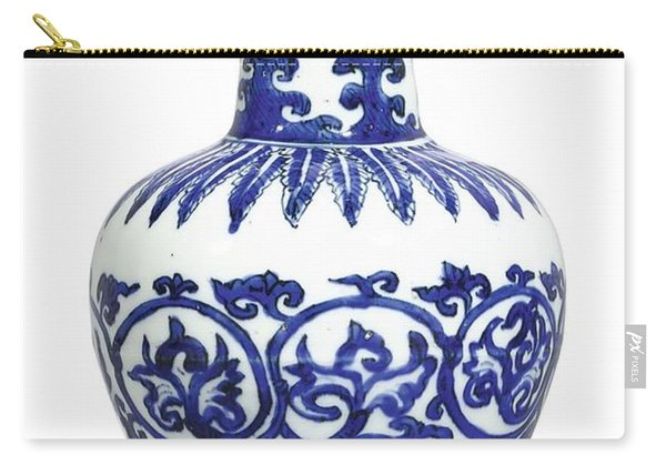 A Fine And Rare Blue And White 'arrow' Vase Mark And Period Of Wanli Carry-all Pouch