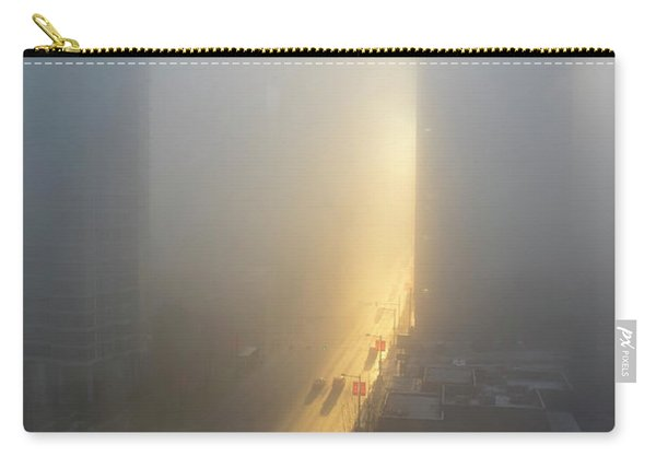 A Foggy Start To The Day In Vancouver Carry-all Pouch
