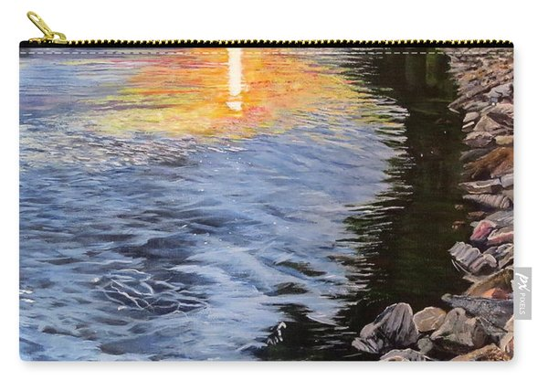 A Fraser River Sunset Carry-all Pouch
