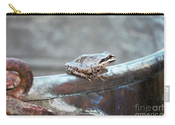 A Frog On A Pot Carry-all Pouch