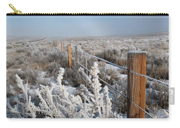 A Frosty And Foggy Morning On The Way To Steamboat Springs Carry-all Pouch
