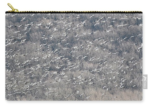 A Gathering Of Snow Geese  Carry-all Pouch