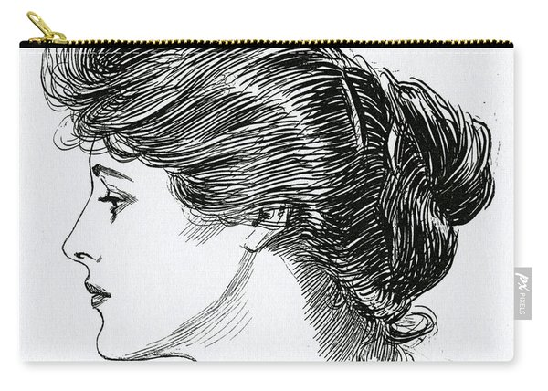 A Gibson Girl, 1902 Carry-all Pouch