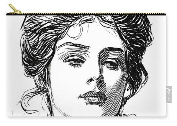 A Gibson Girl, C 1902 Carry-all Pouch