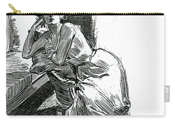 A Gibson Girl, C1902 Lithograph Carry-all Pouch