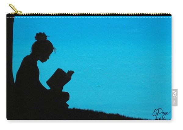 A Girl And Her Book Carry-all Pouch