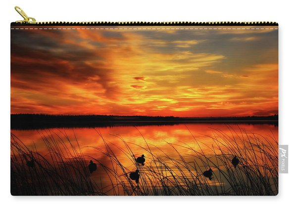 A Golden Sunrise Duck Hunt Carry-all Pouch
