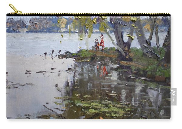 A Gray Rainy Day At Fishermans Park Carry-all Pouch
