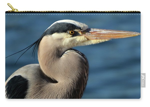 A Great Blue Heron Posing Carry-all Pouch