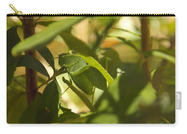 A Green Leaf Eater Carry-all Pouch