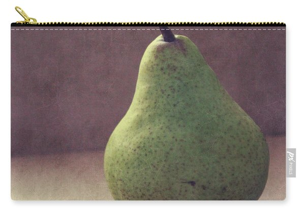 A Green Pear- Art By Linda Woods Carry-all Pouch