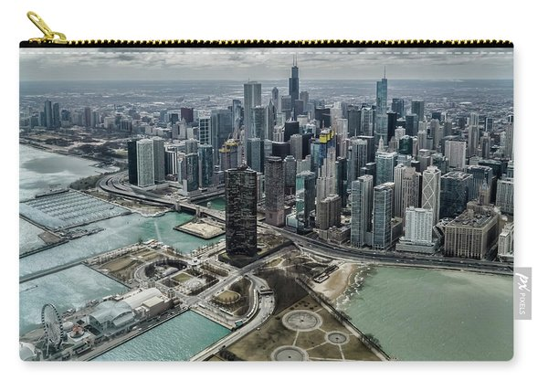 A Helicopter View Of Chicago's Lakefront Carry-all Pouch