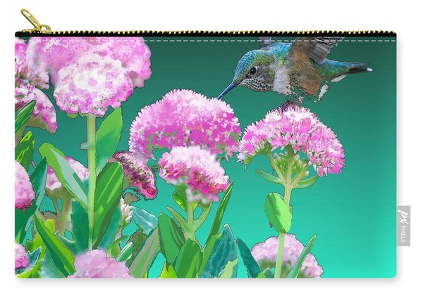 A Hummingbird Visits Carry-all Pouch