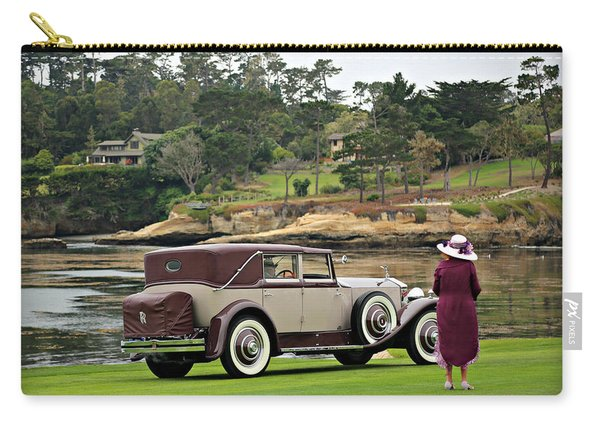 A Lady And Her Town Car Carry-all Pouch