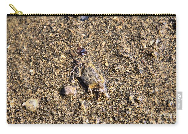 A Little Crab In The Sand Carry-all Pouch