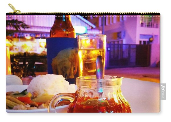 Carry-all Pouch featuring the photograph A Little Dab Will Do Yah. It's Sliced by Mr Photojimsf
