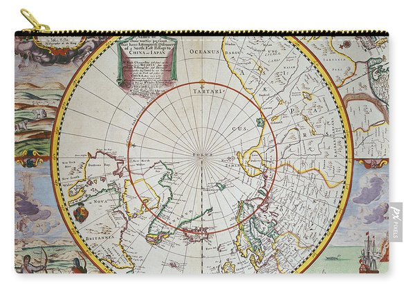A Map Of The North Pole Carry-all Pouch