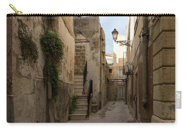 A Marble Staircase To Nowhere - Tiny Italian Lane In Syracuse Sicily Carry-all Pouch